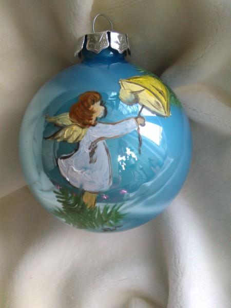 Handbemalte Christbaumkugeln.Atelier Wernigerode Weihnachtliches